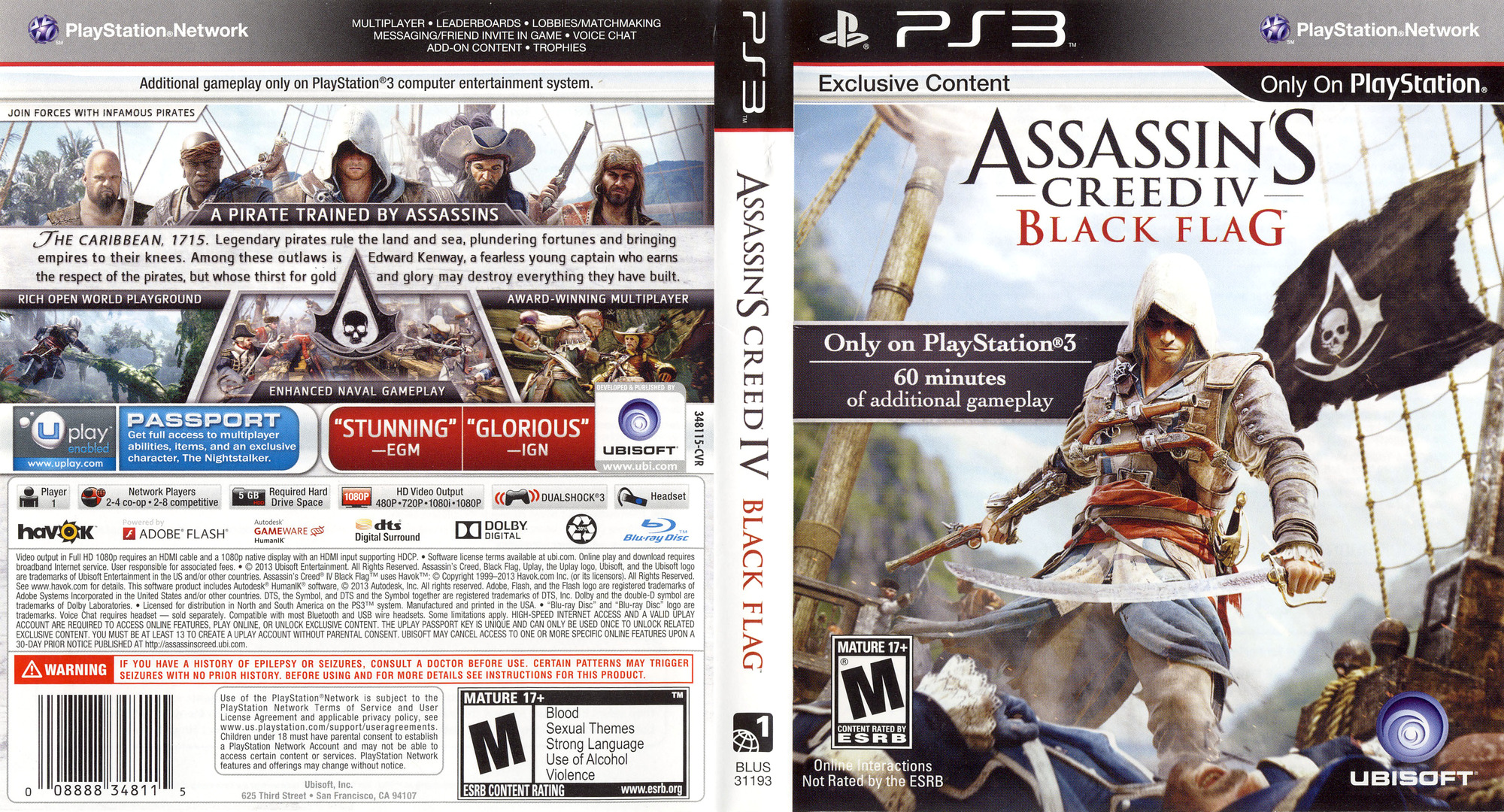 Assassin's Creed IV: Black Flag PS3 coverfullHQ (BLUS31193)