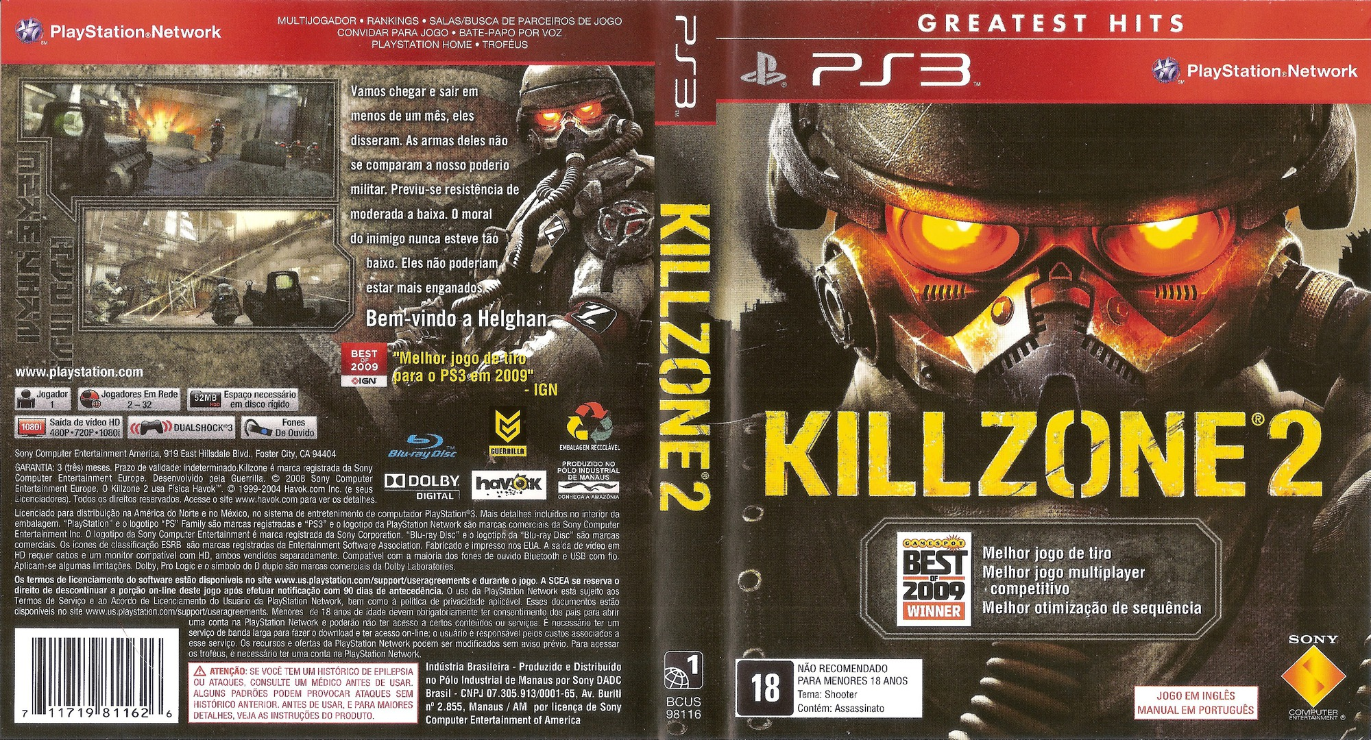 Killzone 2 PS3 coverfullHQ (BCUS98116)