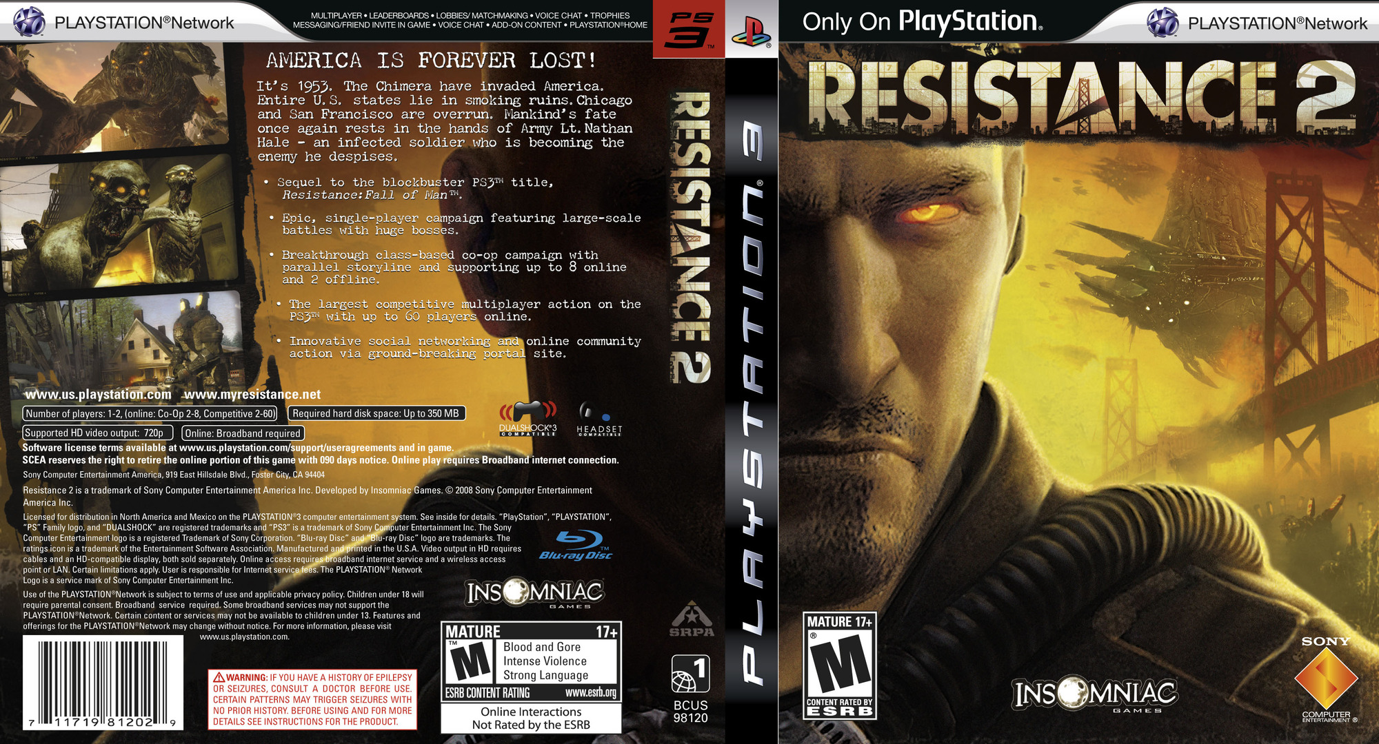 Resistance 2 PS3 coverfullHQ2 (BCUS98120)