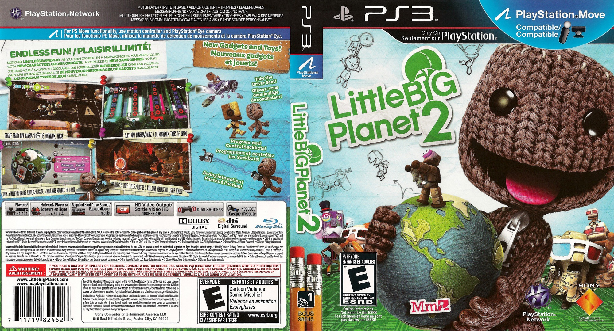 LittleBigPlanet 2 PS3 coverfullHQ2 (BCUS98245)