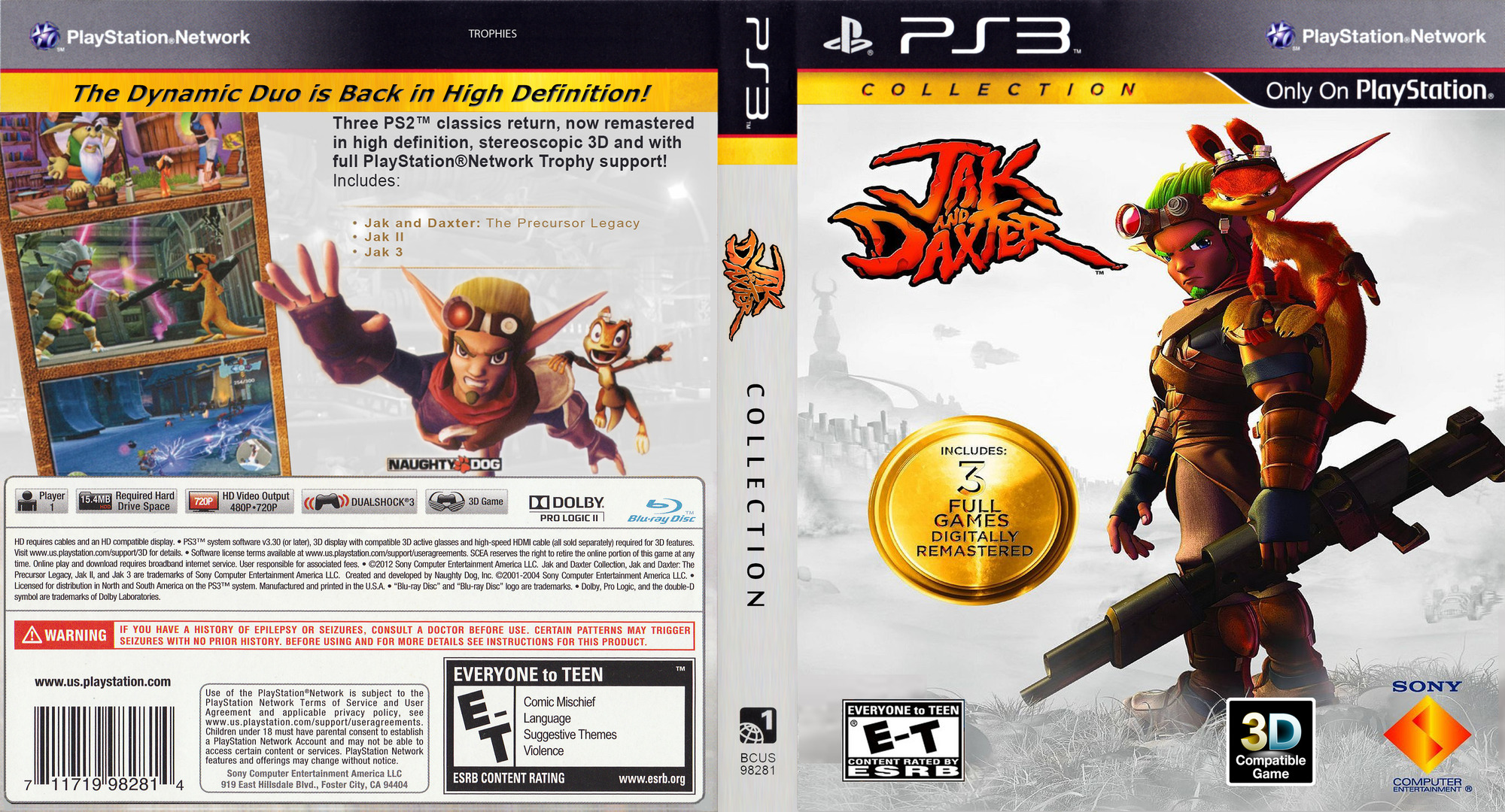 Jak & Daxter  Collection PS3 coverfullHQ2 (BCUS98281)