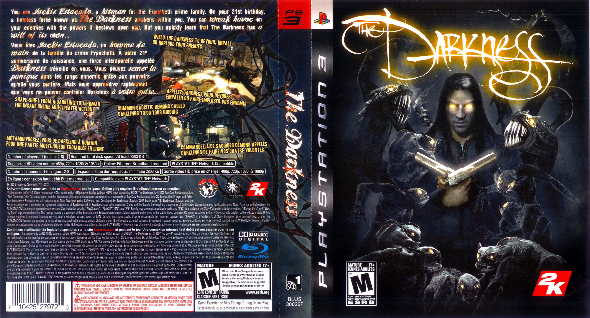 The Darkness PS3 coverfullHQ2 (BLUS30035)
