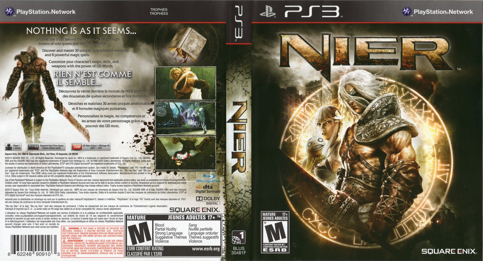 Nier PS3 coverfullHQ2 (BLUS30481)