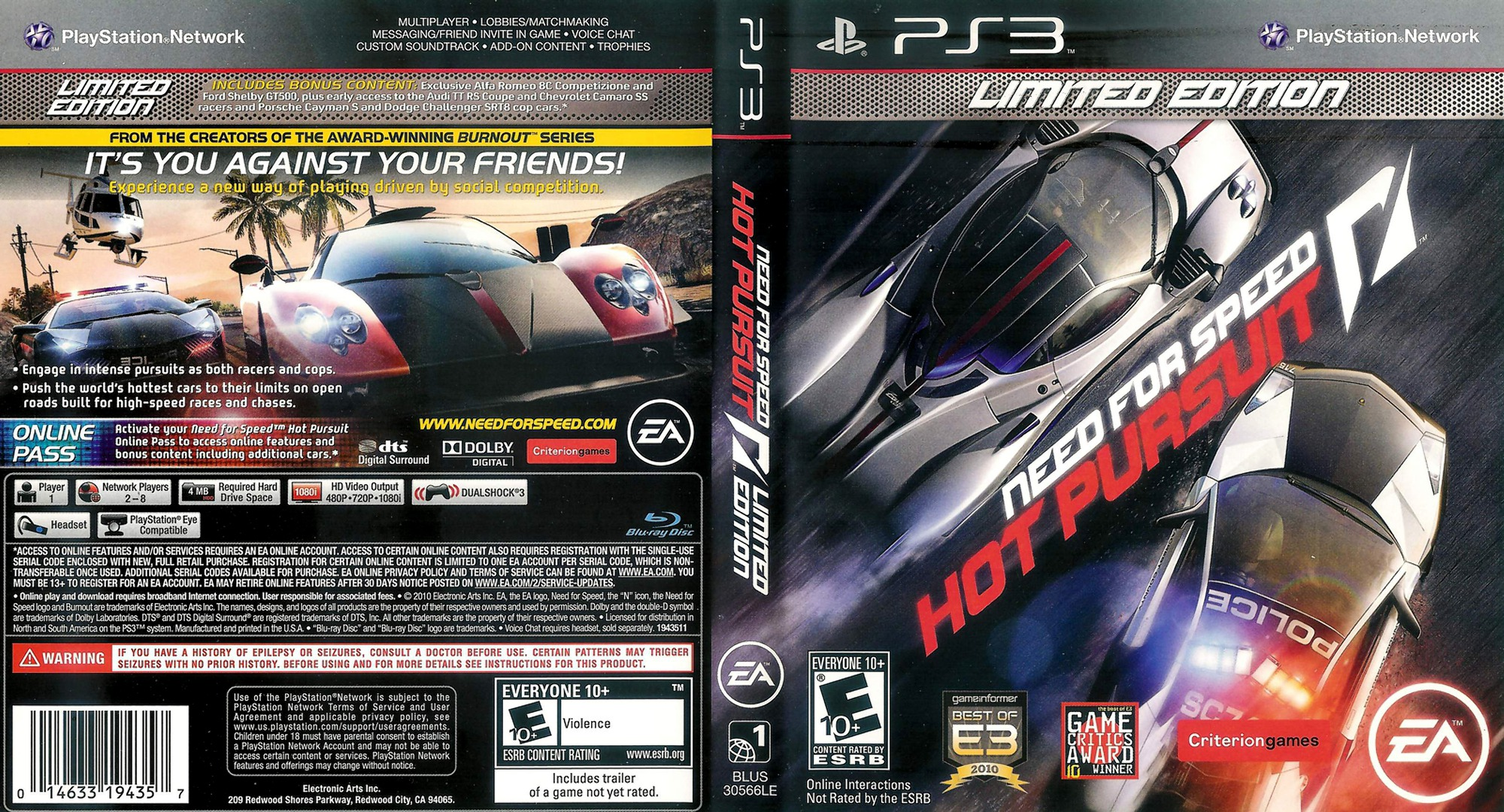 Need for Speed: Hot Pursuit PS3 coverfullHQ2 (BLUS30566)