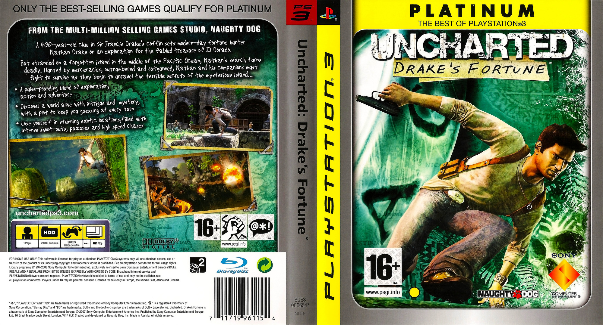 Uncharted: Drake's Fortune PS3 coverfullHQB (BCES00065)