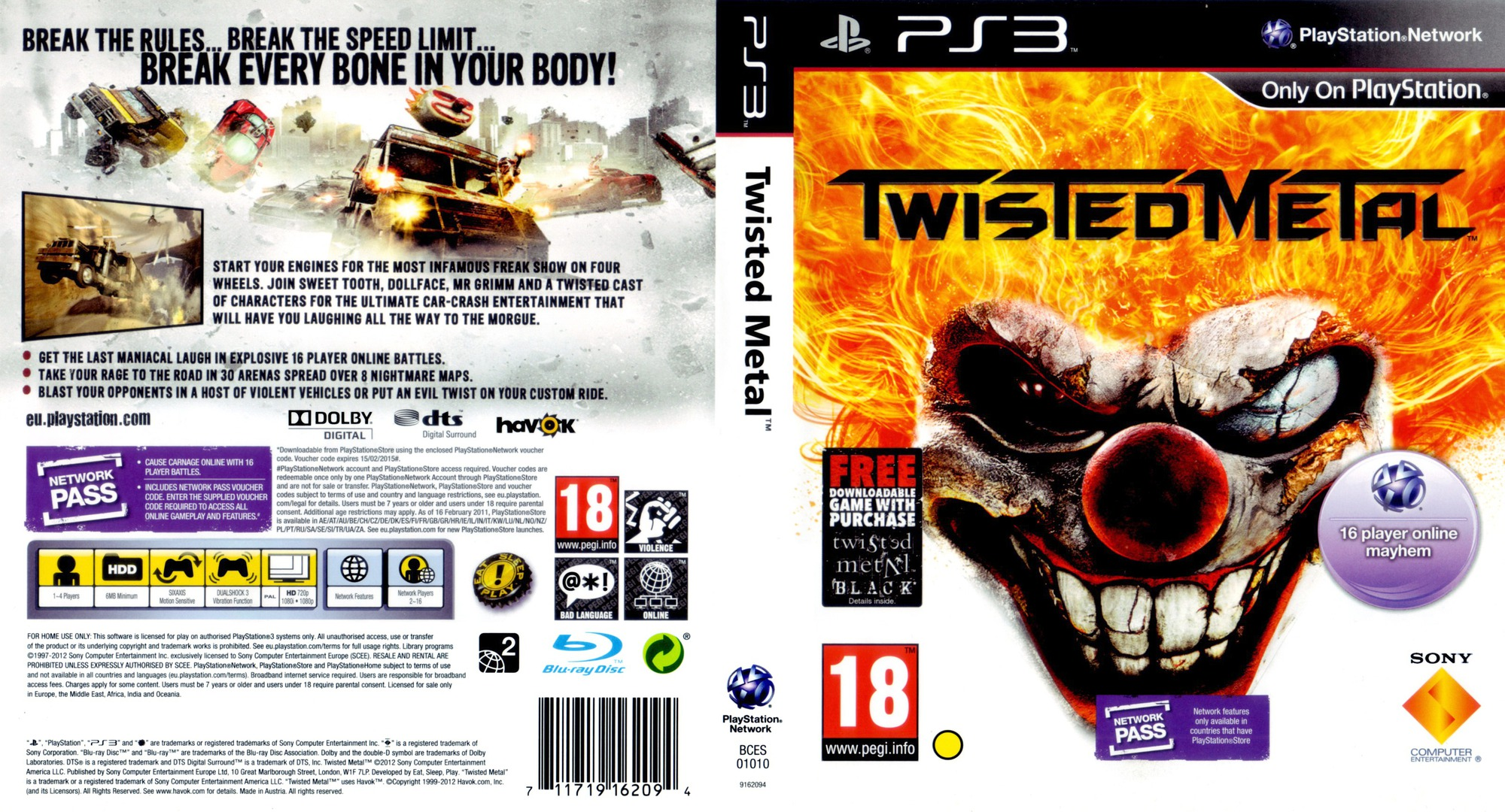Twisted Metal PS3 coverfullHQB (BCES01010)