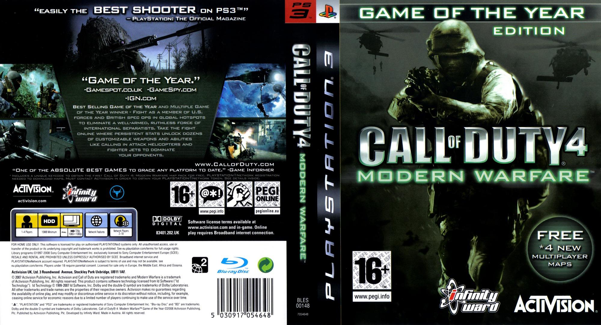 Call of Duty 4: Modern Warfare PS3 coverfullHQB (BLES00148)