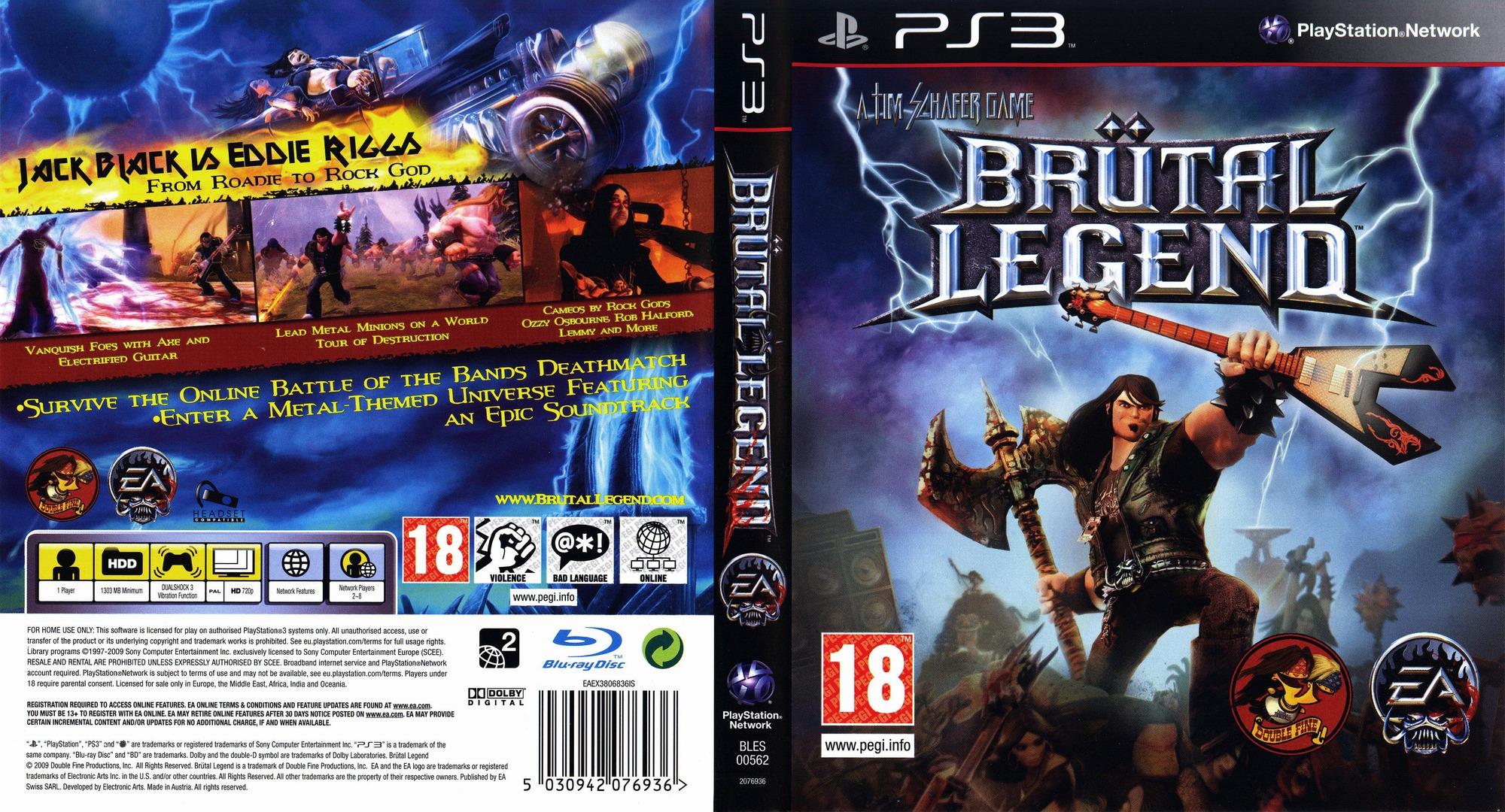 Brutal Legend PS3 coverfullHQB (BLES00562)