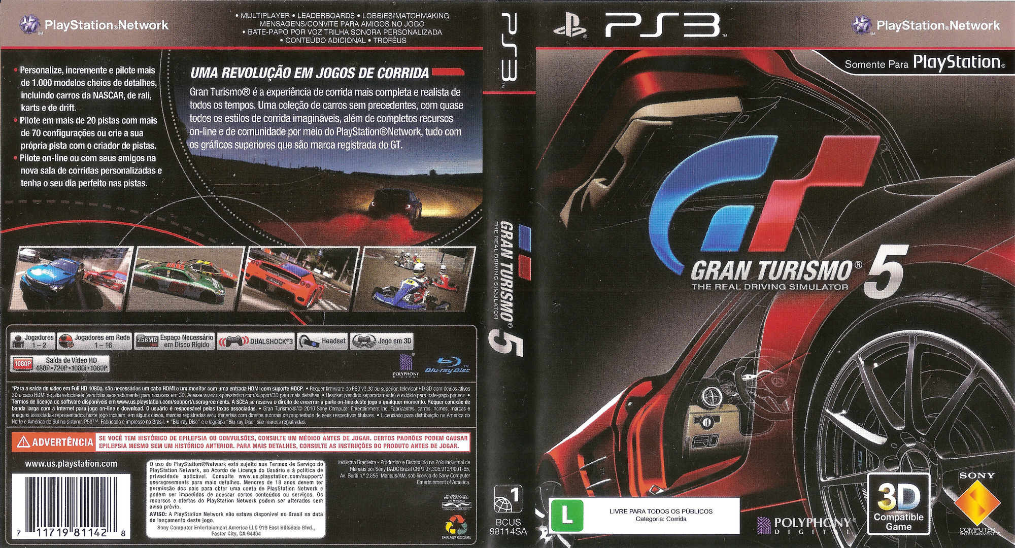 Gran Turismo 5 Array coverfullHQB (BCUS98114)
