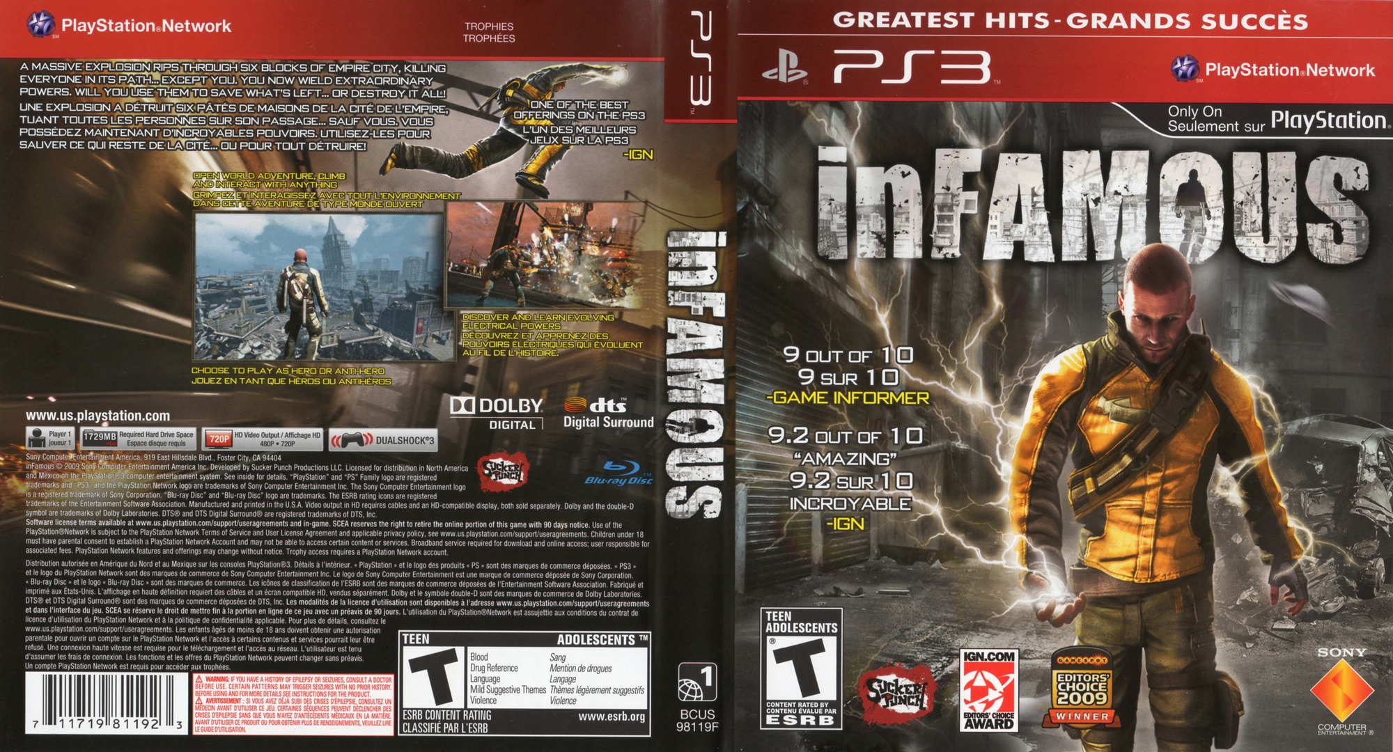 inFamous PS3 coverfullHQB (BCUS98154)