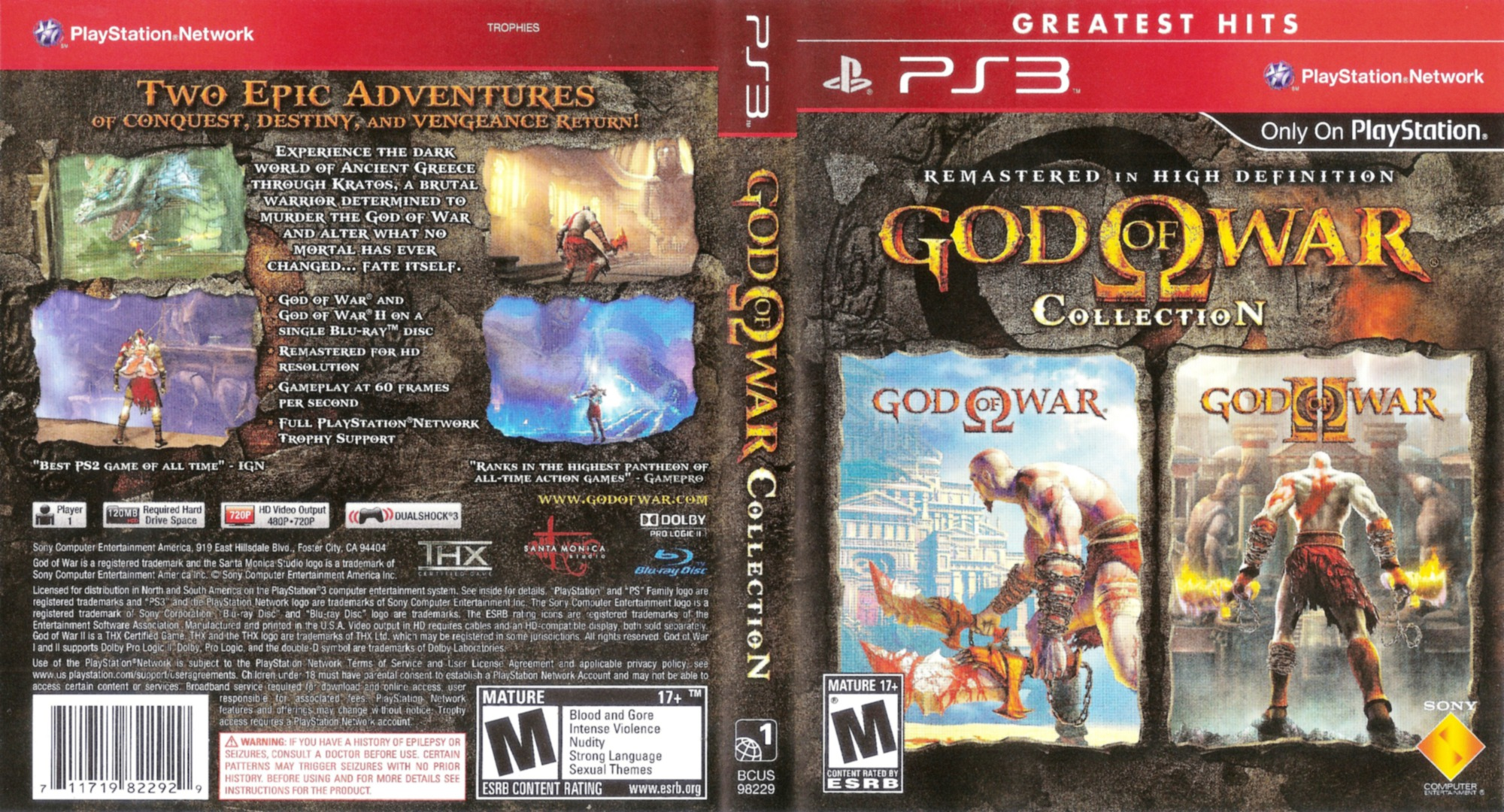 God of War Collection PS3 coverfullHQB (BCUS98229)