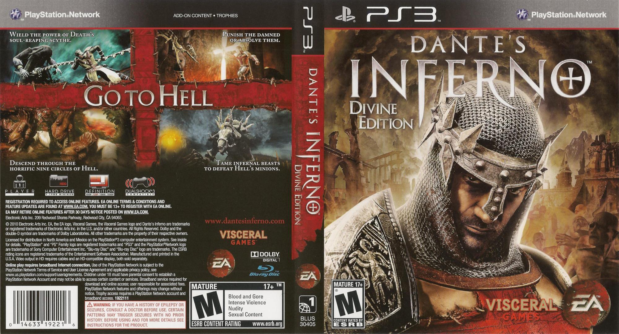 Dante's Inferno (Divine Edition) PS3 coverfullHQB (BLUS30405)