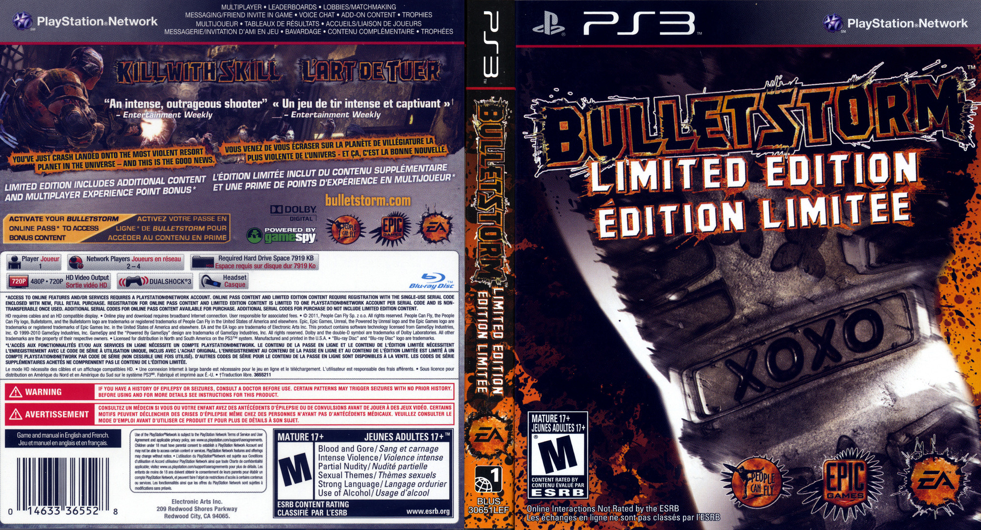 Bulletstorm PS3 coverfullHQB (BLUS30651)