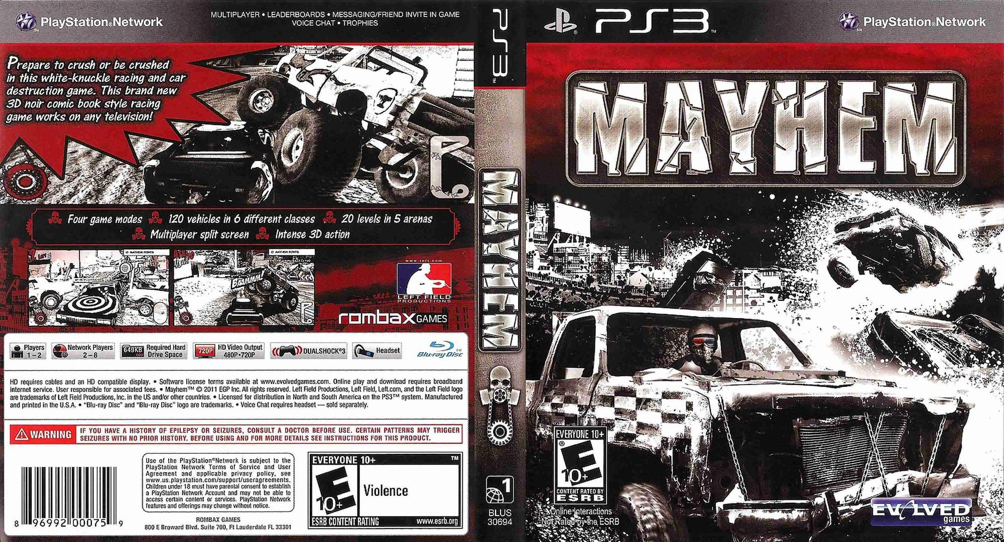 Mayhem PS3 coverfullHQB (BLUS30694)