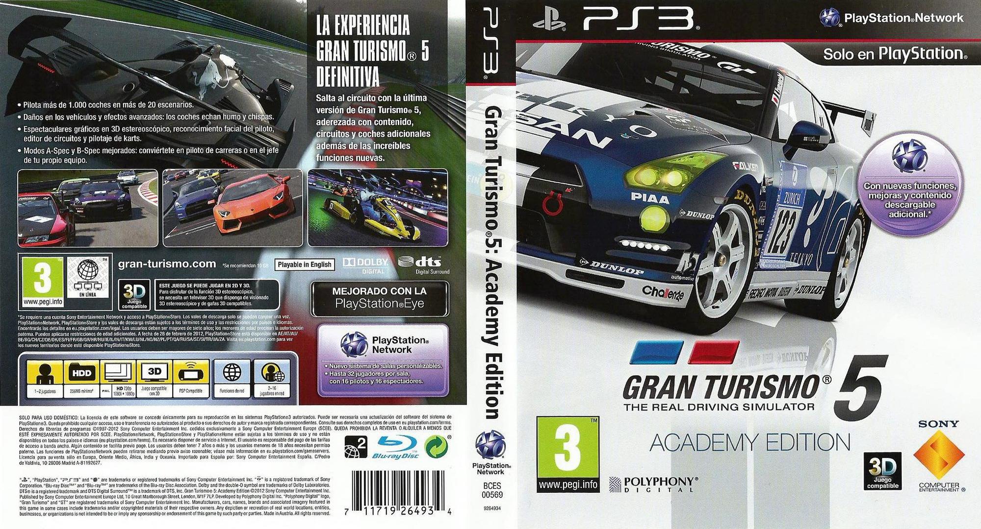 Gran Turismo 5 PS3 coverfullHQB2 (BCES00569)