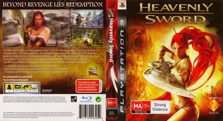 Heavenly Sword PS3 coverfullM (BCES00078)