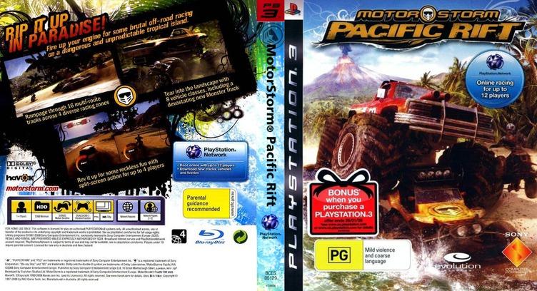 MotorStorm: Pacific Rift PS3 coverfullM (BCES00129)