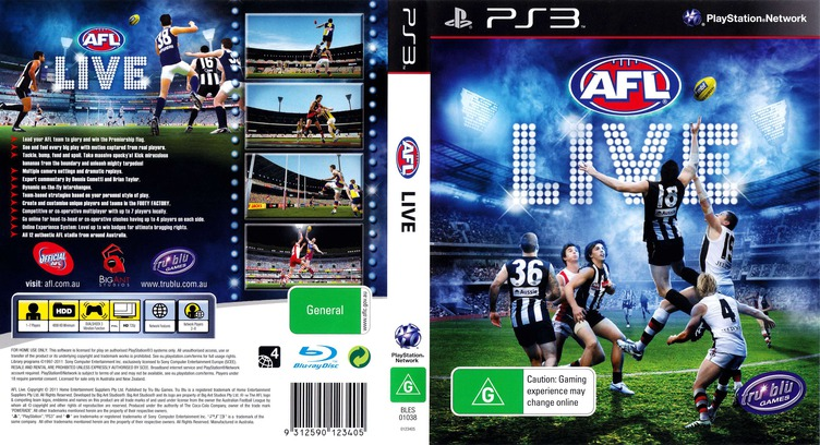 AFL Live PS3 coverfullM (BLES01038)