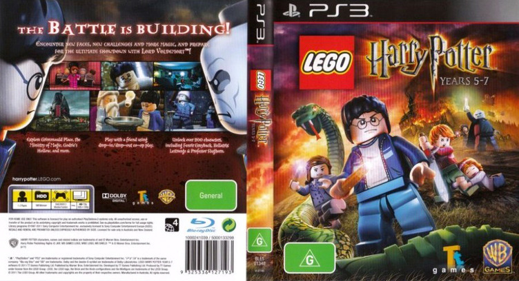 LEGO Harry Potter: Years 5-7 PS3 coverfullM (BLES01348)
