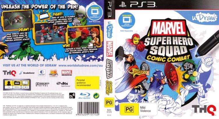 Marvel Super Hero Squad:Comic Combat PS3 coverfullM (BLES01379)