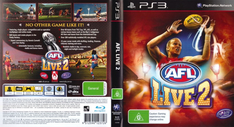 AFL Live 2 PS3 coverfullM (BLES01875)