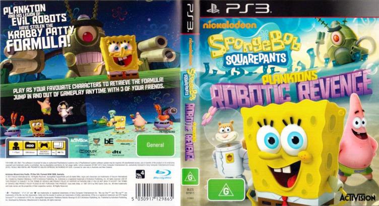 SpongeBob SquarePants: Plankton's Robotic Revenge PS3 coverfullM (BLES01911)