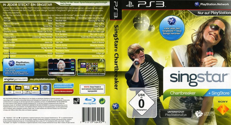 SingStar: Chartbreaker PS3 coverfullM (BCES00640)