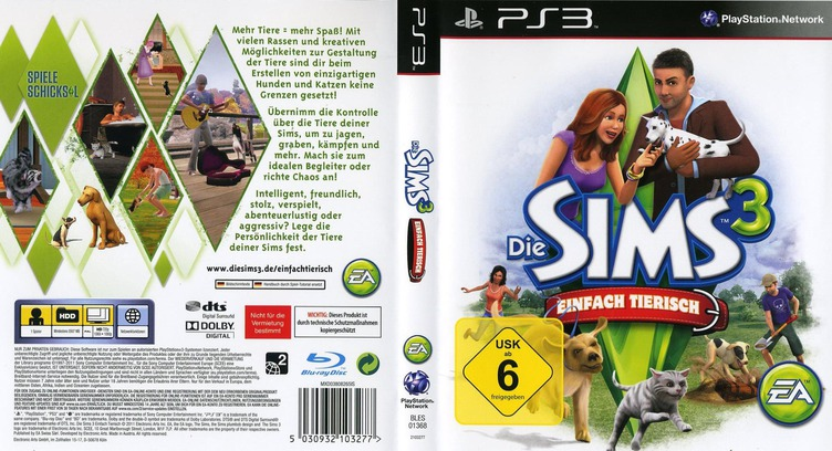 The Sims 3: Einfach Tierisch PS3 coverfullM (BLES01368)