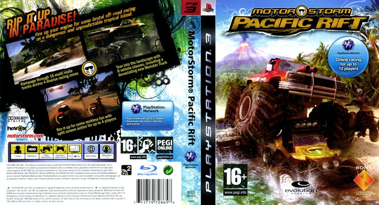 MotorStorm: Pacific Rift PS3 coverfullM (BCES00129)