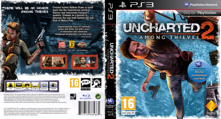 Uncharted 2: Among Thieves PS3 coverfullM (BCES00509)