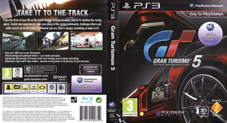 Gran Turismo 5 PS3 coverfullM (BCES00569)