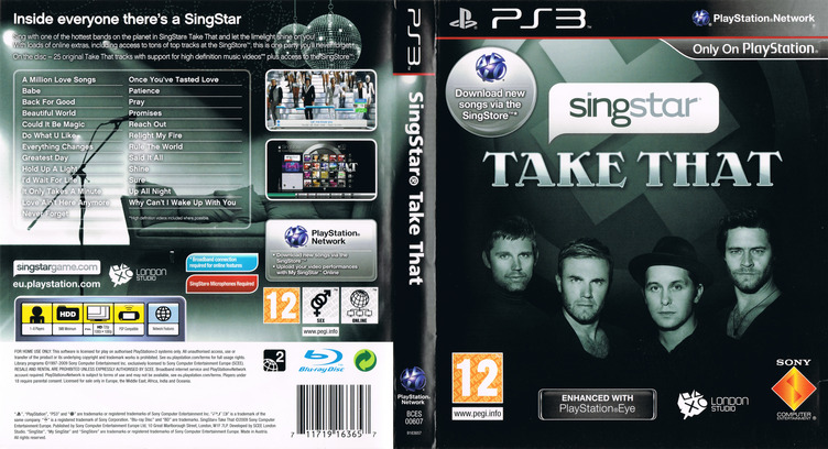 SingStar: Take That PS3 coverfullM (BCES00607)