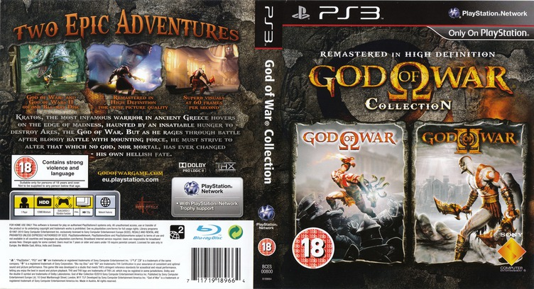 God of War Collection PS3 coverfullM (BCES00800)