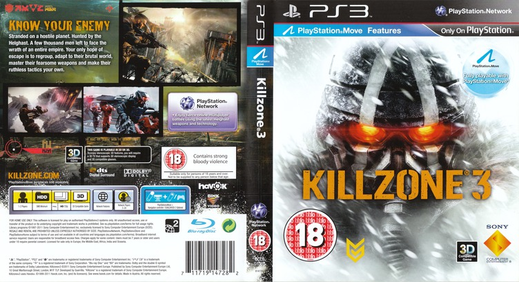 Killzone 3 PS3 coverfullM (BCES01007)