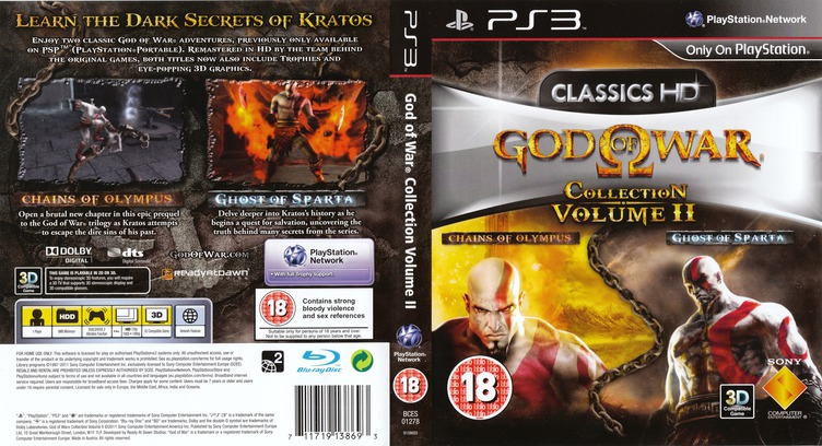 God of War Collection Volume II PS3 coverfullM (BCES01278)