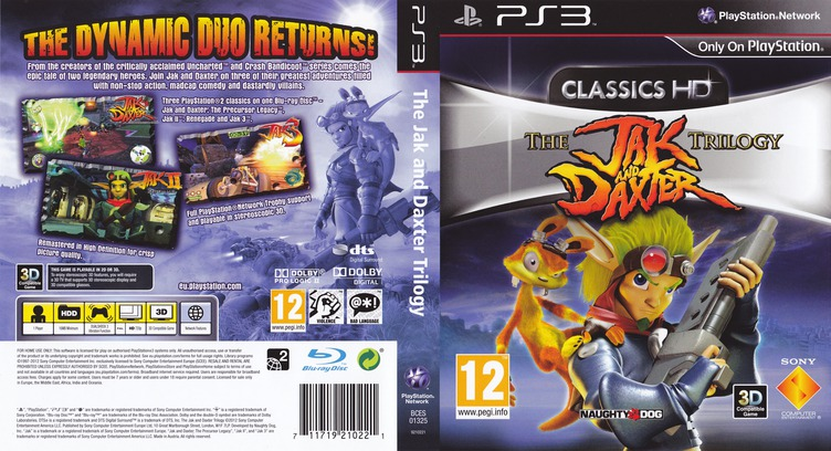 Jak & Daxter The Trilogy PS3 coverfullM (BCES01325)
