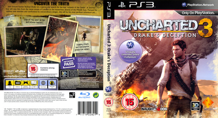 Uncharted 3: Drake's Deception (Game of the Year Edition) PS3 coverfullM (BCES01670)