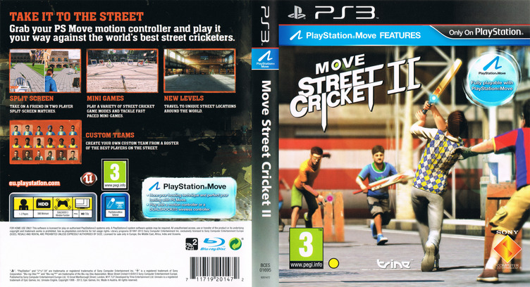 Move Street Cricket II PS3 coverfullM (BCES01695)