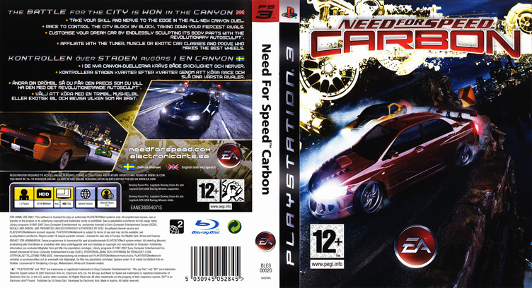 Need for Speed: Carbon PS3 coverfullM (BLES00020)