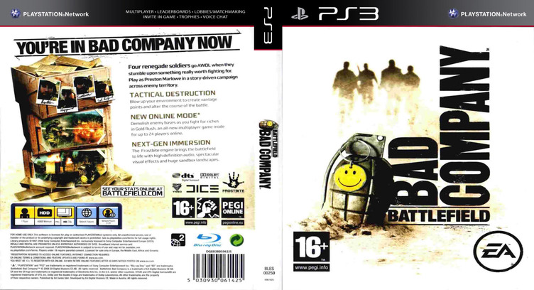Battlefield: Bad Company PS3 coverfullM (BLES00259)