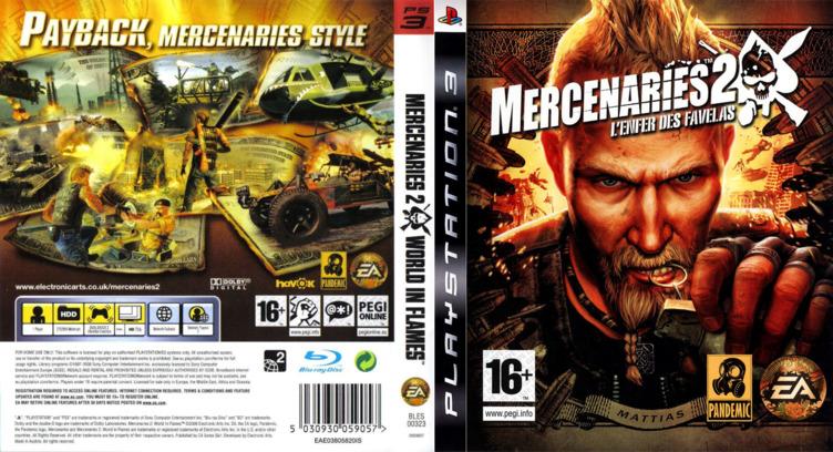 Mercenaries 2: World in Flames PS3 coverfullM (BLES00323)