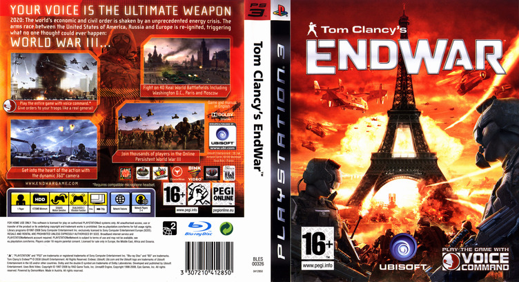 Tom Clancy's EndWar PS3 coverfullM (BLES00326)