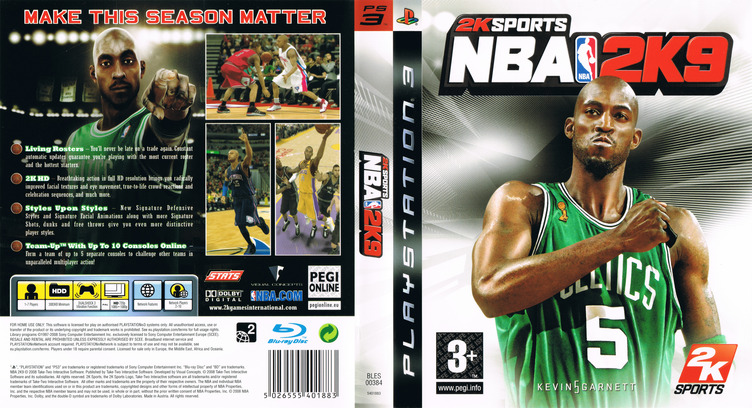 NBA 2K9 PS3 coverfullM (BLES00384)