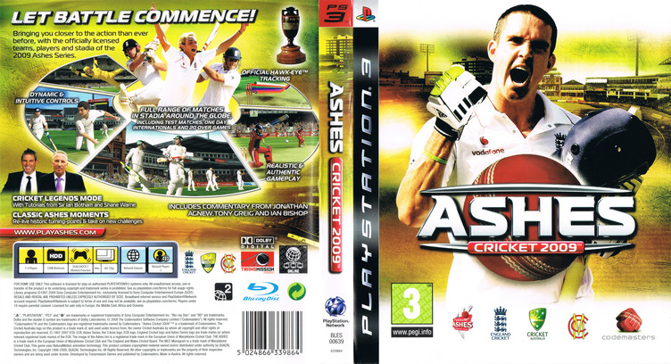 Ashes Cricket 2009 PS3 coverfullM (BLES00639)