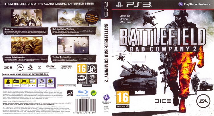 Battlefield: Bad Company 2 PS3 coverfullM (BLES00773)