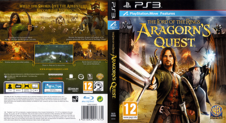 The Lord of the Rings: Aragorn's Quest PS3 coverfullM (BLES00998)