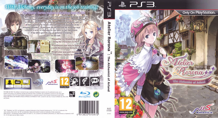Atelier Rorona: The Alchemist of Arland Array coverfullM (BLES01030)