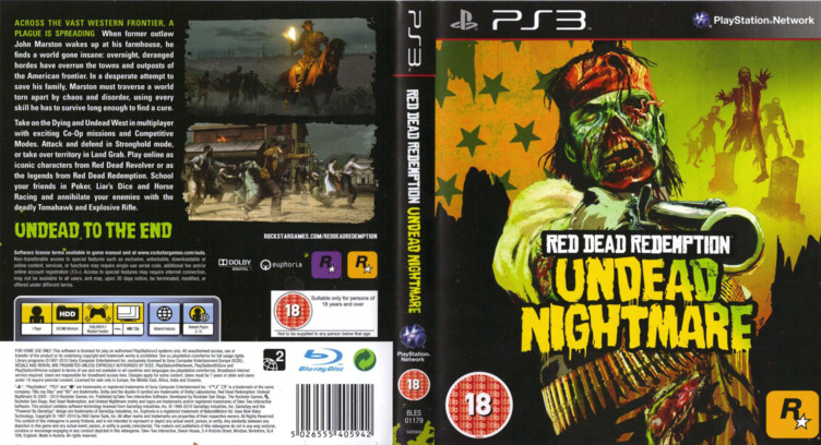 Red Dead Redemption: Undead Nightmare PS3 coverfullM (BLES01179)