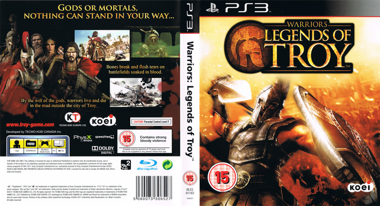 Warriors: Legends of Troy PS3 coverfullM (BLES01183)