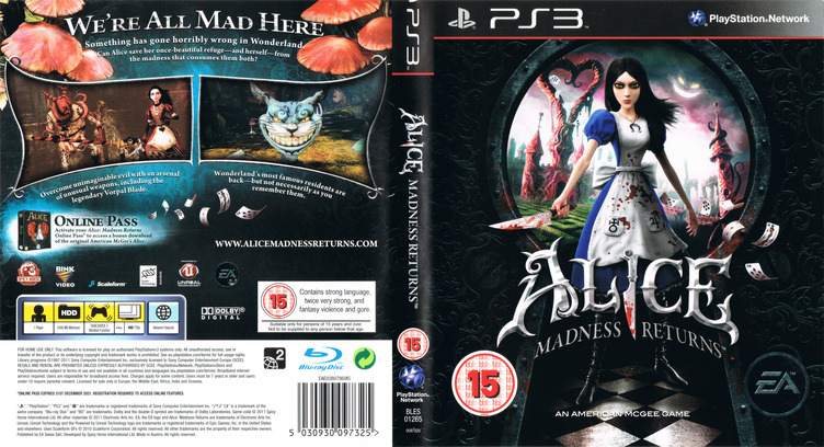 Alice: Madness Returns PS3 coverfullM (BLES01265)